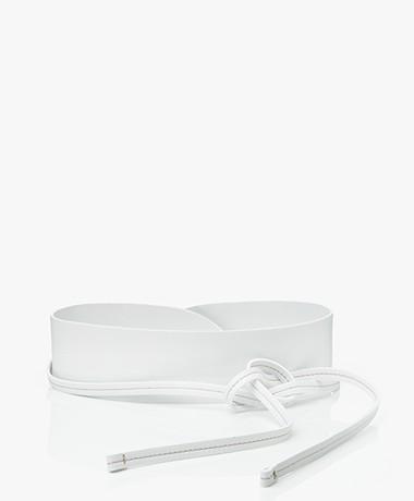 Pomandère Leren Wikkel Tailleriem - Salt White