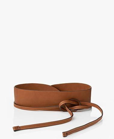 Pomandère Leather Tie Waist Belt - Lobster