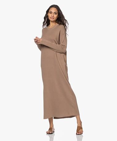 By Malene Birger Acinis Knitted Maxi Dress - Golden Beige