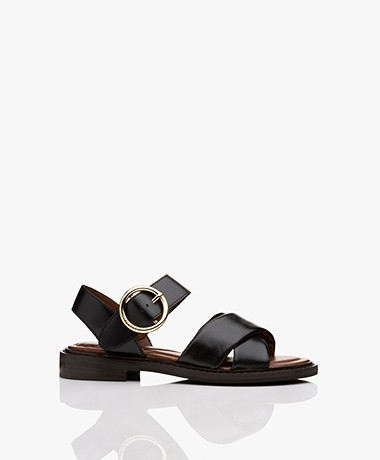 See by Chloé Lyna Calf Skin Sandals - Black