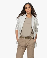 no man's land Linnenmix Lurex Blazer - Shell