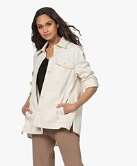 Drykorn Nathen BCI Cotton Jacket - Ecru