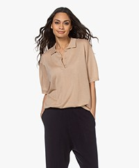 extreme cashmere N°176 Tennis Cashmere Polo - Camel