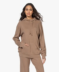 By Malene Birger Agatea Knitted Hoodie - Golden Beige