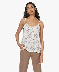 Josephine & Co Lucky Crepe Viscose Print Top - Mocca