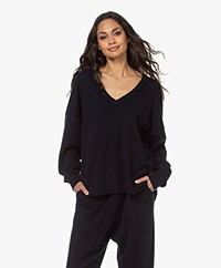 extreme cashmere N°161 Clac Cashmere Sweater - Navy