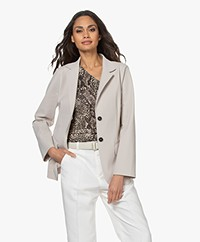 Woman by Earn Jan Jersey Blazer - Zand