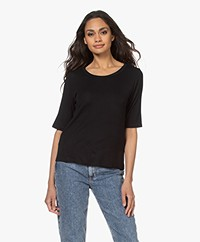 ba&sh Clarck Stretch Modal T-shirt - Black