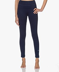 Denham Move Tech Rib Jersey Legging - Blauw