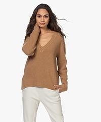 Rag & Bone Pierce Cashmere V-neck Sweater - Camel