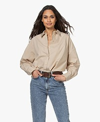 By Malene Birger Elasis Oversized Katoenen Overhemdblouse - Nature