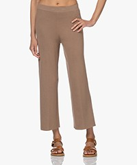 By Malene Birger Belis Gebreide Pull-on Broek - Golden Beige