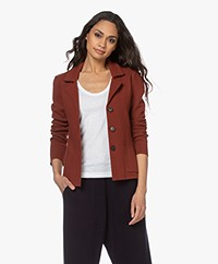 Woman by Earn Yenthe Milano Gebreide Blazer - Burnt Orange