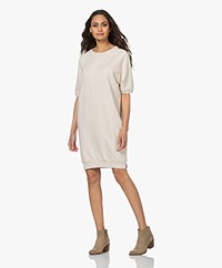 by-bar Neva Organic Cotton Sweater Dress - Oyster Melange