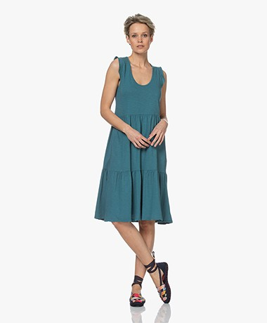 indi & cold Sleeveless Slub Jersey Dress - Acero