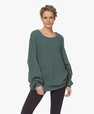American Vintage Nizy Open Knit Sweater - Sequoia