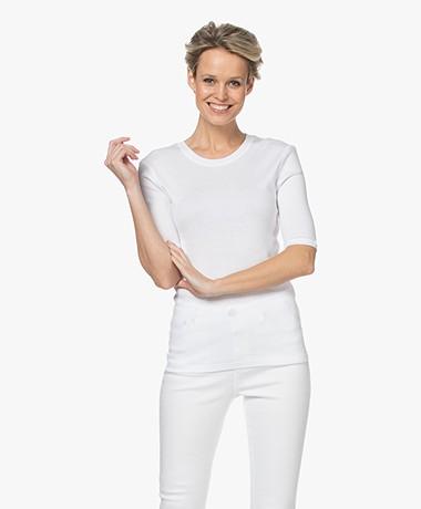 Closed Modal Blend Rib T-shirt - White