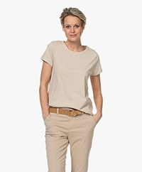no man's land Katoenen Basis T-shirt - Oak