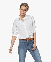 no man's land Cotton Poplin Shirt - White