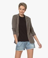 Majestic Filatures Garment Dyed Jersey Blazer - Kaki