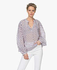 Closed Fallon Batist Print Blouse - Kobalt Blue