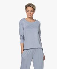 HANRO Pure Comfort Loose-fit Long Sleeve - Cloud Dancer