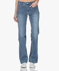 MKT Studio The Diana Wilson Flared Jeans - Lichtblauw