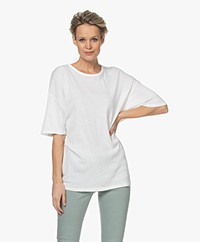 American Vintage Gabyshoo Oversized T-shirt - Wit
