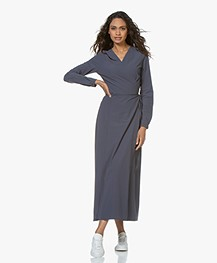 JapanTKY Aina Travel Jersey Maxi Wrap Dress - Mauve