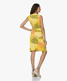 Kyra & Ko Felda Jersey Print Jurk - Lemon