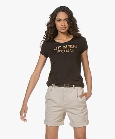 Zadig & Voltaire Titan Je M'en Fous T-shirt - Black