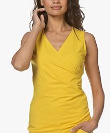 Kyra & Ko Kiana Jersey Wrap Top - Lemon - kiana 205 - lemon