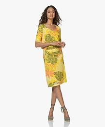 Kyra & Ko Tooske Printed Jersey Skirt - Lemon - tooske 205 - lemon