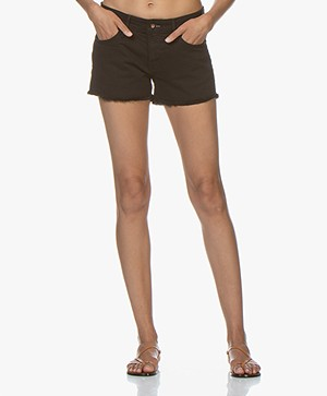 Denham Monroe Denim Shorts - Black