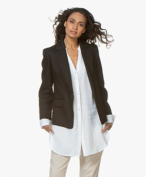 Joseph New Williams Linen Blend Blazer - Black