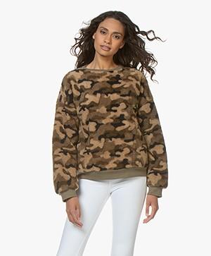 Ragdoll LA Teddy Camo Sweatshirt - Army