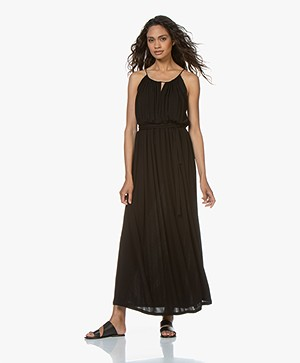 Vanessa Bruno Lorine Crepe Jersey Maxi Dress - Black