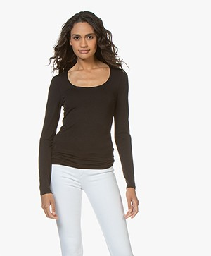 no man's land Basic Viscose Long Sleeve - Black