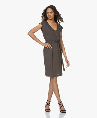 BY-BAR Sofia Linen Jersey Dress - Phantom Black