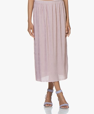 Filippa K Wave Plisse Midi Skirt - Frosty Pink