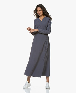 JapanTKY Aina Travel Jersey Maxi Wrap Dress - Mauve
