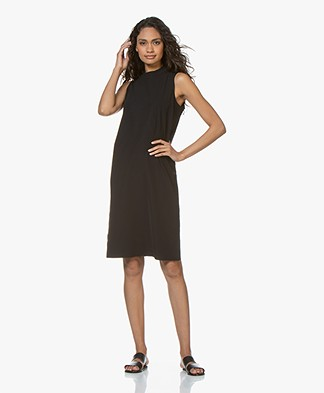JapanTKY Nagila Sleeveless Travel Jersey Dress - Black