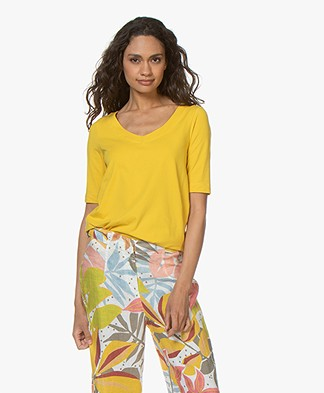 Kyra & Ko Claire A-line T-shirt - Lemon
