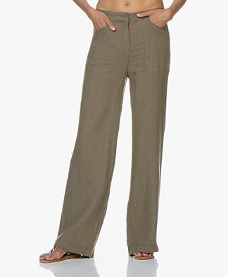 Kyra & Ko Rhode Linen Pants - Khaki