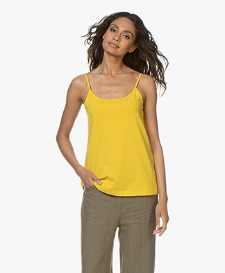 Kyra & Ko Mees Cotton Spaghetti Strap Top – Lemon
