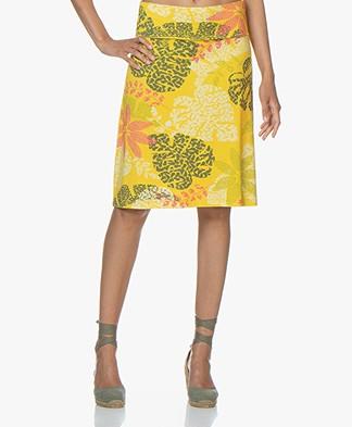Kyra & Ko Tooske Printed Jersey Skirt - Lemon
