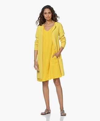Sibin/Linnebjerg Mary Merino Blend Open Cardigan - Yellow