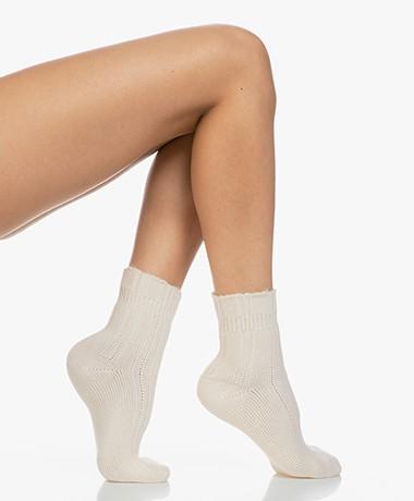 FALKE Ultra Soft Bed Socks - Off-white