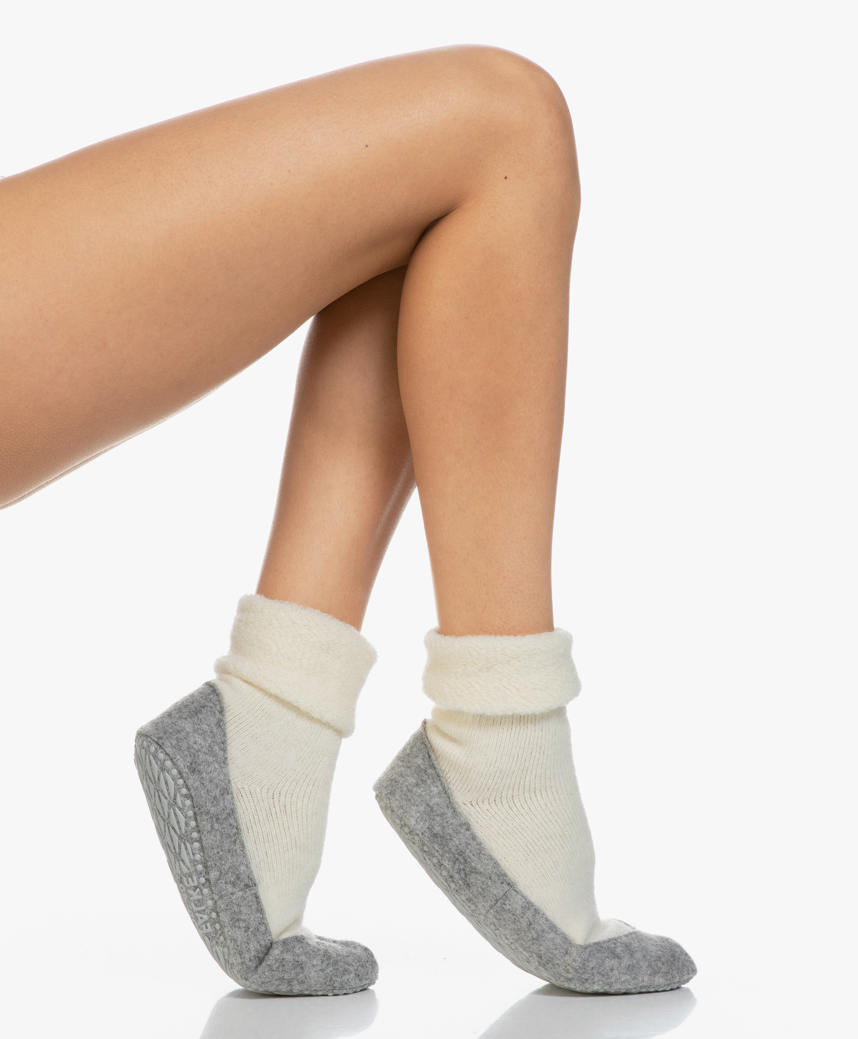 Anthracite Grey Falke Cosyshoe Slipper Socks