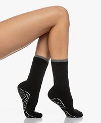 FALKE Cuddle Pads Non-slip Socks - Black/Grey
